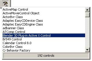 Embedding the ActiveX control in other applications